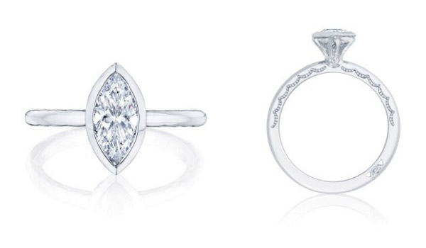 Marquise Shaped Starlit Tacori Engagement Ring