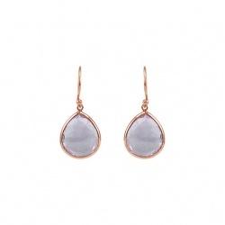 Sterling Silver Amethyst Earrings (Style #69644AM)