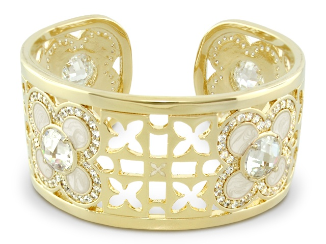 Lauren G Adams Gold Floral Cuff Bangle