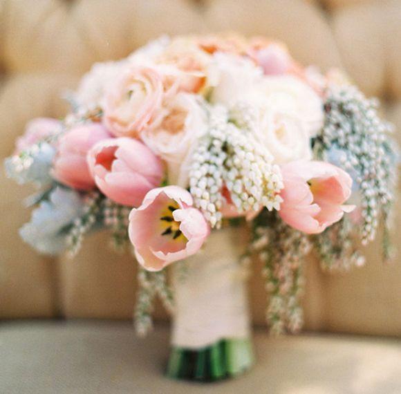 Rose Quartz, Serenity, and Sea Foam Green Bouquet