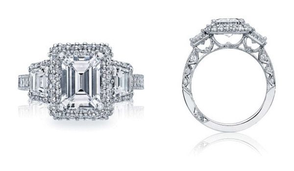 Emerald Cut Blooming Beauties Tacori Engagement Ring