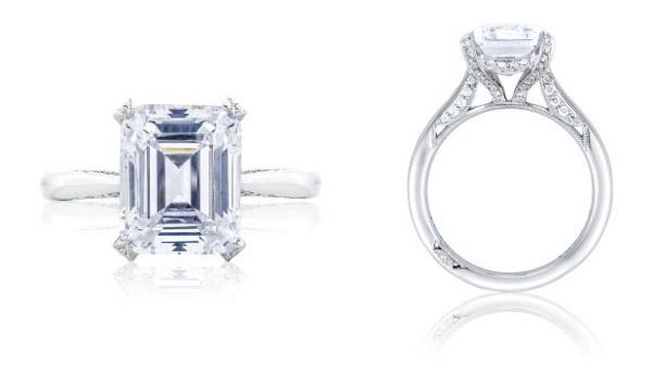 Emerald Cut RoyalT Tacori Engagement Ring