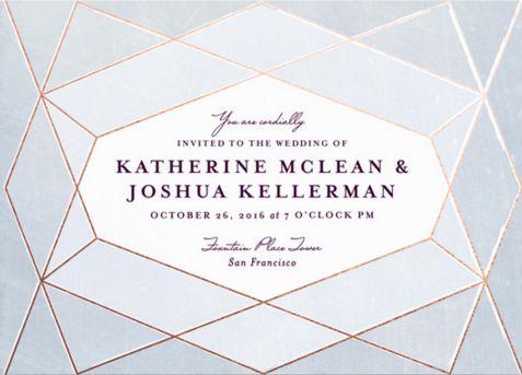 Abstract Jewel Wedding Invitations