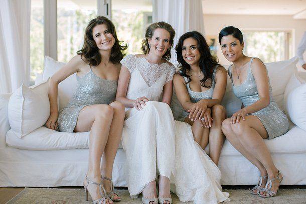 Serenity-Inspired Glitter Bridesmaid Dresses