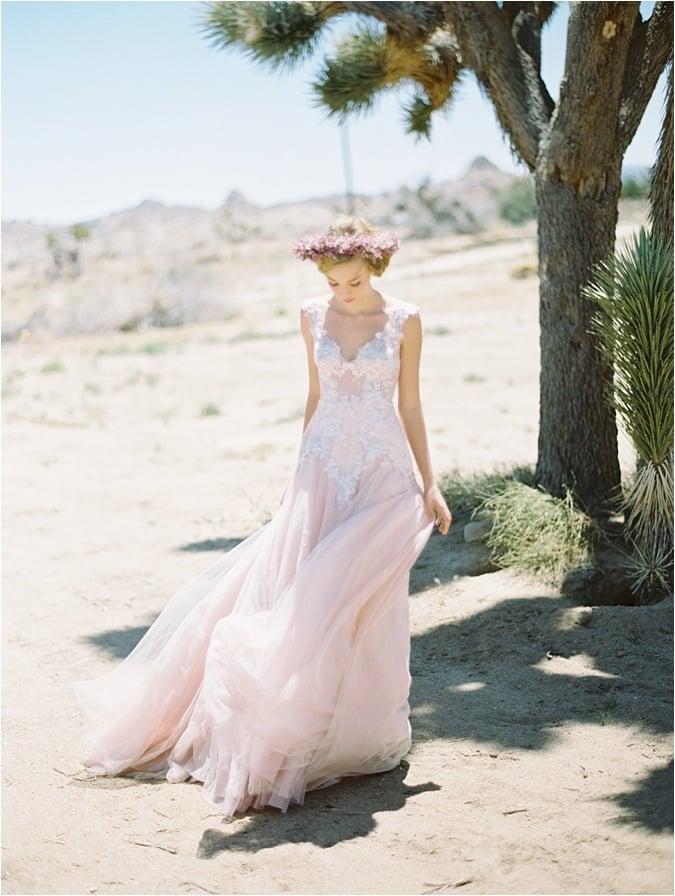Lace and Rose Quartz Wedding Dress