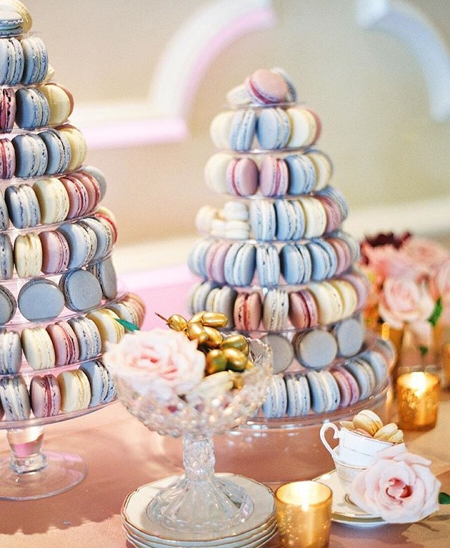 Rose Quartz and Serenity Macarons