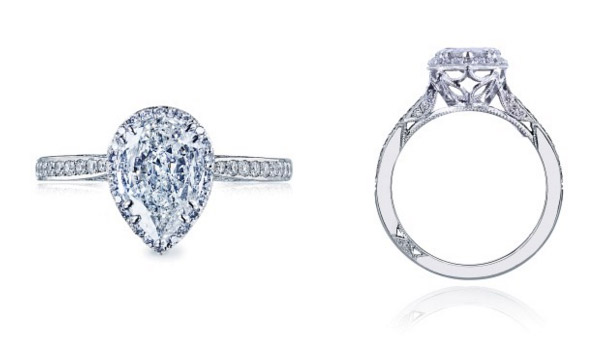 Pear Shaped Dantela Tacori Engagement Ring