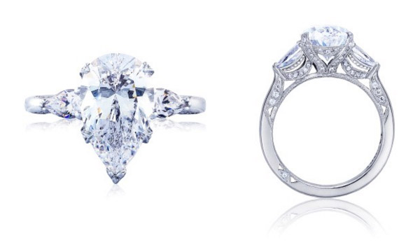 Pear Shaped RoyalT Tacori Engagement Ring
