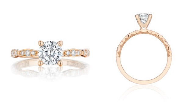Pretty in Pink Tacori Engagement Ring2