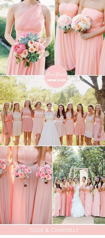 Rose Quartz Bridesmaid Dresses