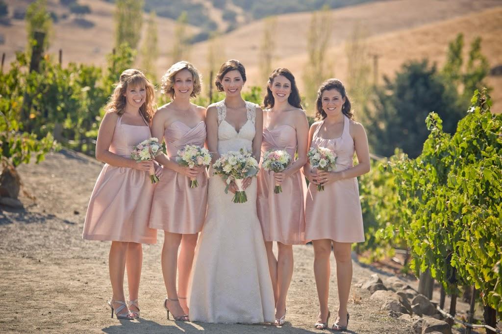 Shiny Rose Quartz Bridesmaid Dresses