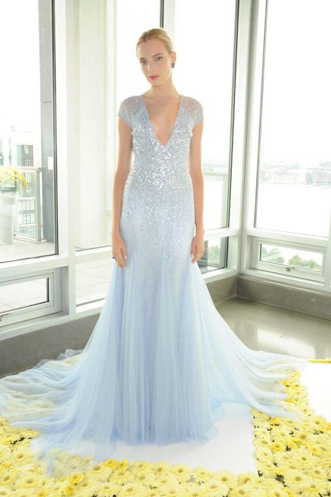 Pamela Roland Sequin Wedding Dress