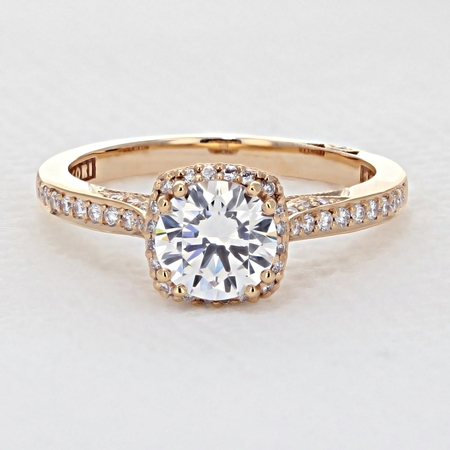 Tacori Dantela Rose Gold Engagement Ring