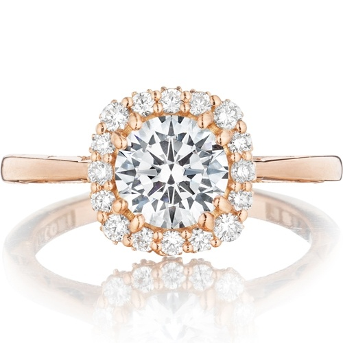 Tacori Pretty in Pink Full Bloom Rose Gold Engagement Ring (Style #55-2CU65PK)
