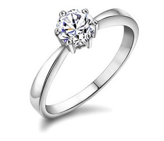 Colorless Zircon Diamond Alternative
